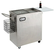Avanti   2 5 Cu  Ft  Portable Outdoor Beverage Cooler   Stainless steel