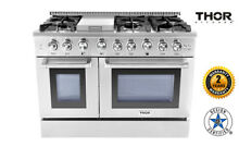 Thor Kitchen 48 Gas Range Stainless Steel 2 Ovens 6 burners Cooker HRG4808U