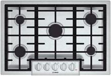 Bosch NGM8055UC 31  Natural Gas Sealed Burner Style Cooktop in Stainless Steel