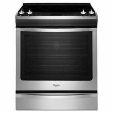 Whirlpool WEE760H0DS 30 Inch Slide in Smoothtop Electric Range Stainless