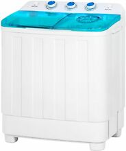 12 lbs Laundry Washer Portable Compact Mini Twin Tub Washing Machine w Spin Dry