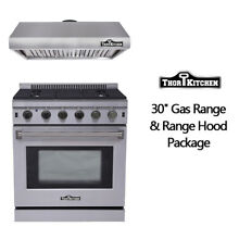 30  Gas Range Oven  Stainless Steel 30 Range Hood Package LRG3001U