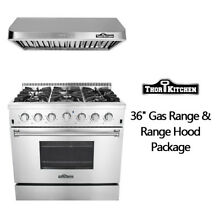 Thor Kitchen 36 inch Gas Rang 6 burner range hood 36 package Professional