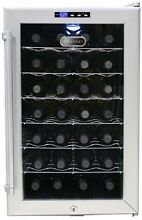 28 Bottle Thermoelectric Beverage Wine Cooler Fridge Double Paned Glass Door NEW
