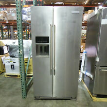KitchenAid KRSC503ESS 22 7CF Counter Depth Side by Side Refrigerator Silver