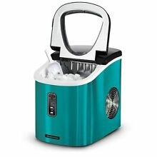 Tramontina Stainless Steel Countertop Ice Maker Compact Ice Making Machine TEAL