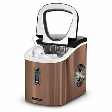 Tramontina Stainless Steel Countertop Ice Maker Compact Ice Making Machine BRONZ