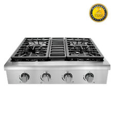 Thor Kitchen 30 Inch Rangetop 4 burners propane stove  Stainless Steel HRT3003U