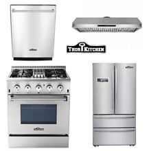 30  Dual fuel 24 Dishwasher 30  Vent 36inch fridge Stainless Steel Thor Kitchen