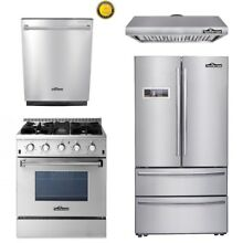 30  Gas Range 4 Burners 1oven 24 Dishwasher 36  Fridger Range hood Thor Kitchen