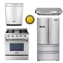 30  Dual fuel 4burne 24 Dishwasher 30  fan 36inch fridge Stainless Steel Thor