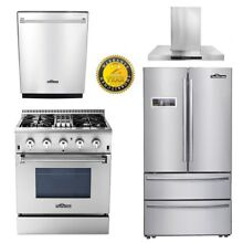 THOR 30  Dual fuel 4burners 24 Dishwasher 30  Wall Mount Hood 36inch fridger