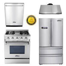 THOR 30  Dual fuel 4burners 24 Dishwasher 30  under cabinet Hood 36inch fridger