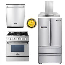 30  Gas Range 24  Dishwasher Propane 4 Burners 36  Fridger 30  range hood