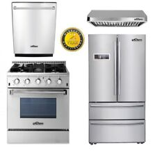 30  Gas Range 24  Dishwasher Propane 4 Burners 36  Fridger 30  buttons hood
