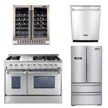 48   Range  24 Dishwasher 36  Refrigerator  Wine Cooler deals Thor kitchen