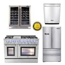 48   Range  24 Dishwasher 36  Refrigerator 30  Wine Cooler deals Thor kitchen