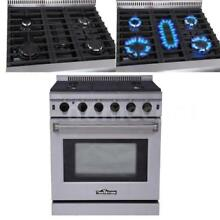 30  Freestanding Stainless Steel Gas Range Gas Cooktop Gas Oven 5 Burners S7A2