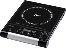Sunpentown 1300 Watts Induction Cooktop Silver SR 964TS Hot Plate Ceramic