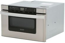 Microwave Drawer Sharp 1 2 cu  ft  Built in Sensor Cooking Stainless Steel NEW