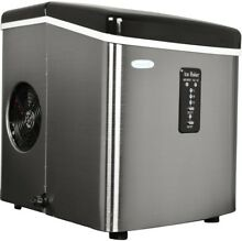 NewAir Ice Maker 28 lb  Automatic Shut Off Removable Ice Bin Stainless Steel