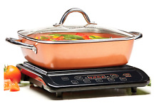Copper Chef Induction Cooktop with 11  Casserole Pan Burner  Countertop Portable