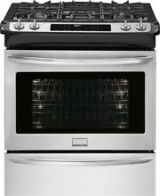 Frigidaire FGDS3065PF 30 Inch Slide in Dual Fuel Range in Stainless Steel