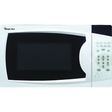 Magic Chef 0 7 Cu  Ft  Microwave Oven in White with Digital Touch   MCM770W