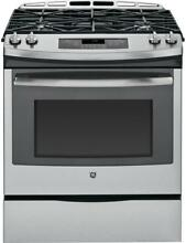 GE JGS650SEFSS 30 Inch Slide in Gas Range with 4 Burners in Stainless Steel