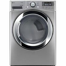 LG DLEX3470V 7 3CF Electric Dryer with Steam   Graphite Steel