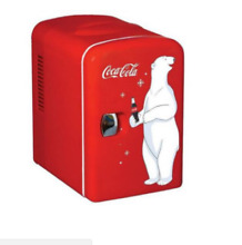 Coca Cola compact 6 can portable fridge mini electric cooler  110 or 12 volt use