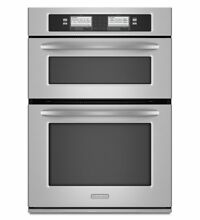 KitchenAid 30 Inch Steam Assist Combination Microwave Wall Oven KEHU309SSS