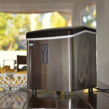 NEW Stainless Steel NewAir AI 100SS 28 Pound Portable Ice Maker Portable