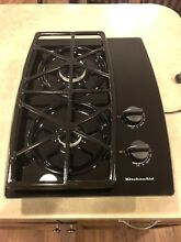 KitchenAid KGCT055GBL2 Glass 21 Inch By 30 Inch Gas Gas Cooktop 2 Burners