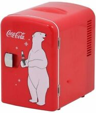 Coca Cola Compact Refrigerator Personal Portable Mini Small Fridge Soda Cooler