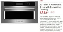 30  Built In Microwave Oven with Convection Cooking KMBP100ESS01