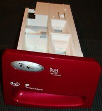 Whirlpool Duet Steam Washer Soap Detergent Drawer Dispenser  RED in color
