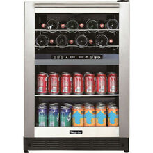 Magic Chef Dual Zone Built In Wine and Beverage Cooler
