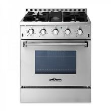 Thor Kitchen HRG3080U 30inch Professional Gas Range with 4 Burner and Oven