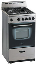 Avanti   20  Freestanding Gas Range   Stainless steel