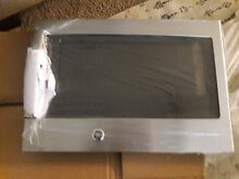 GE STAINLESS STEEL MICROWAVE DOOR   PART  WB56X20407