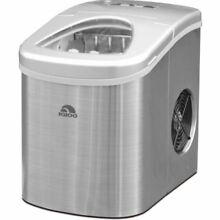 Igloo Silver Portable Countertop Ice Machine Ice in 7 minutes 2 settings 1 gal