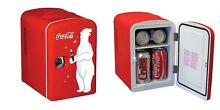 Coca Cola Coke Portable Mini Small Fridge Personal Cooler Refrigerator Soda Can