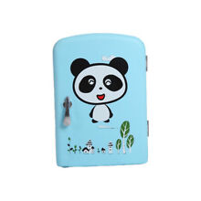 6 Can Mini Fridge 4L Cooler and Warmer Personal for Home Office Car   Blue panda
