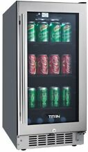 TITAN 80 Can Seamless Stainless Steel Built In Beverage Cooler