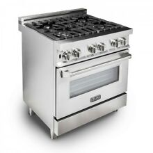 ZLINE 30  Stainless Steel 4 0 cu ft  4 Gas Burner Electric Oven Range  RA30 JI5