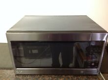 LG LCRT2010BD 1200W 2 0 Cu Ft Full Size Black Stainless Steel Microwave   Used