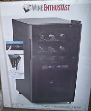 Wine Enthusiast 18 Bottle Touch Screen Wine Refrigerator Cooler 2 Temp New in Bx