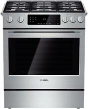 Bosch HGI8054UC 800 Series 30 Inch Slide in Gas Range  in Stainless Steel