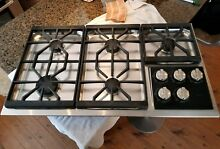 WOLF 36  stainless steel PROFESSIONAL GAS COOKTOP    Ct36gs